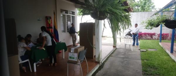 Apertura del último día de elecciones presidenciales en el Consulado en El Amparo